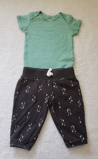 3 month Green Carter's Outfit
