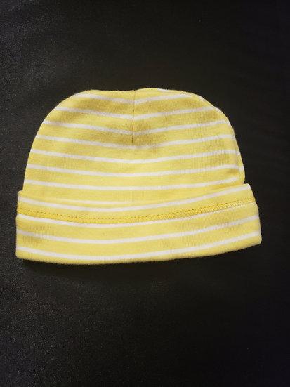 0-3 Child of Mine Yellow & White Striped Hat