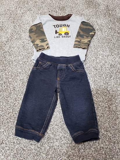 9 month Tough Like Daddy Carter's Outfit
