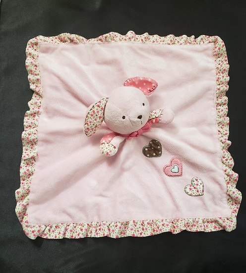 Pink Bunny Lovey with Raddle