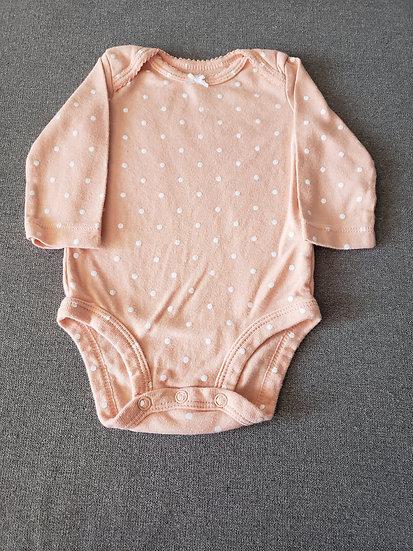 3 month Carter's Peach Long Sleeve Onesie