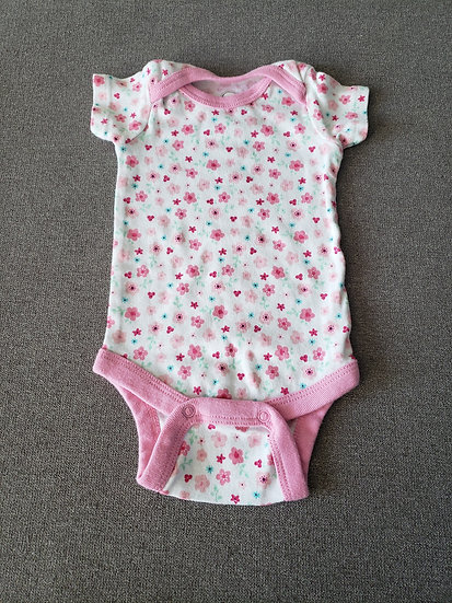 0-3 month Wonder Nation Pink Onesie