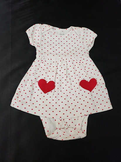 """6 month """"just one you"""" Red Heart Dress"""