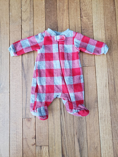 Preemie Garanimals Red Fleece Sleeper