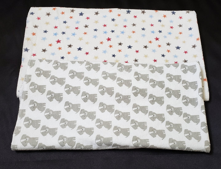 2 pack Dog and Star Receiving Blankets