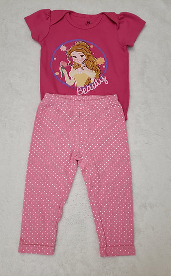 6-9 month Pink Disney Outfit