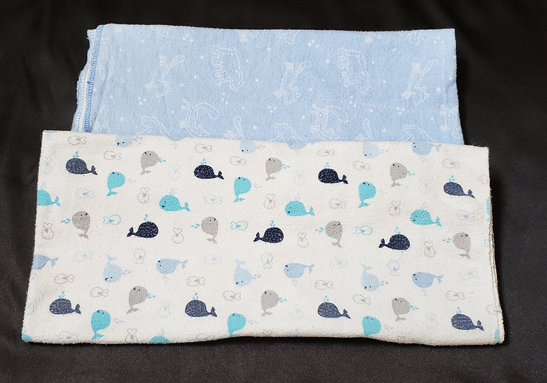 2 pack blue Receiving Blankets