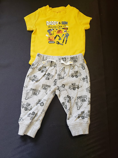 3 month Carter's Daddy and Son Outfit