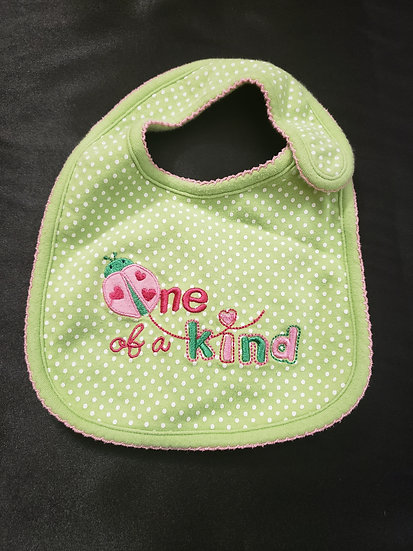 One of a Kind Green Bib