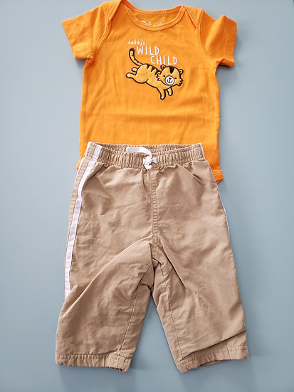 6 month Orange Tiger Outfit