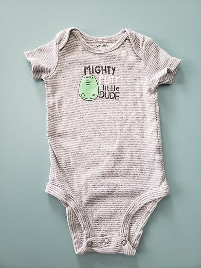6 month Carter's Mighty Cute Little Dude Onesie