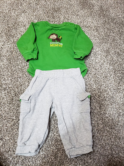 9 month Green Monkey Outfit