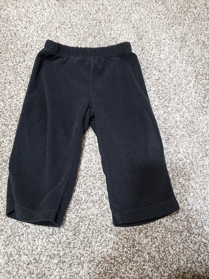 9 month Carter's Black Fleece Pants
