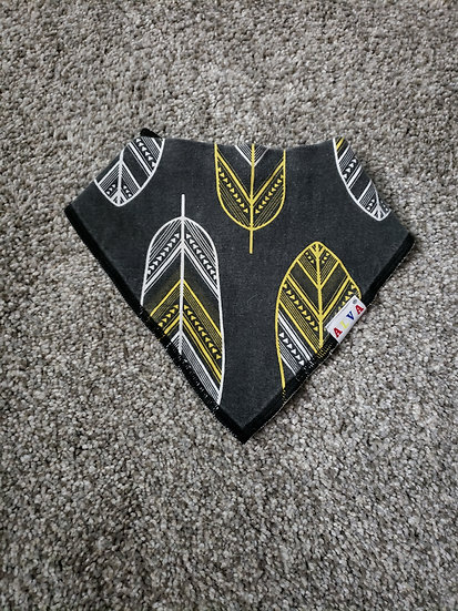 Black, Yellow, and White Banda Bib