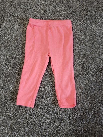 "3-6 month ""Simple Joys"" Neon Pink Bunny Pants"
