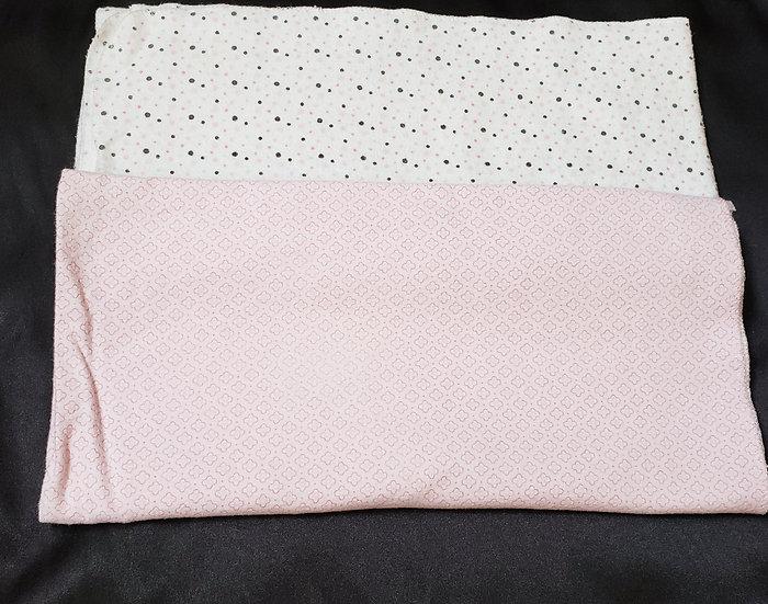 2 pack Pink Receiving Blankets