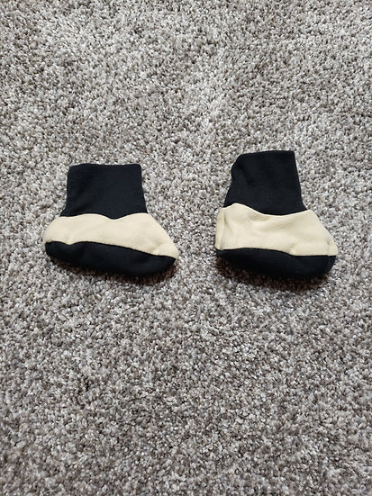 6-9 month Black and Tan Booties