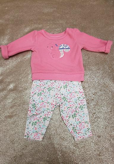 NB Pink Shirt and Printed Pants Set