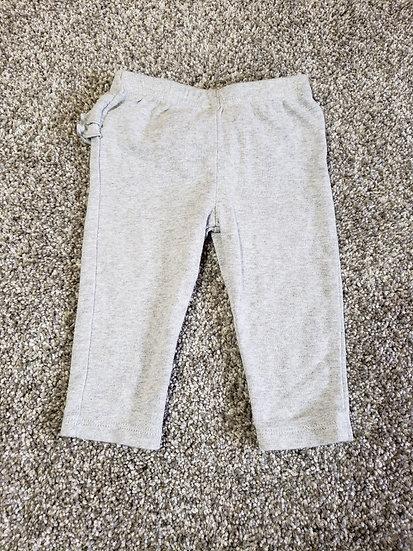 "3-6 month ""Simple Joys"" Gray Ruffle Pants"