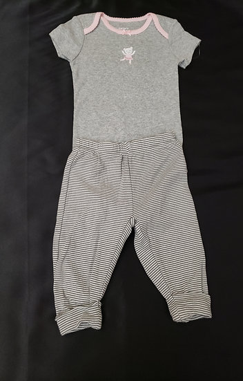 6 month Gray Ballerina Outfit