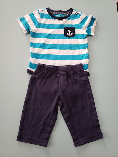 6 month Blue Anchor Outfit