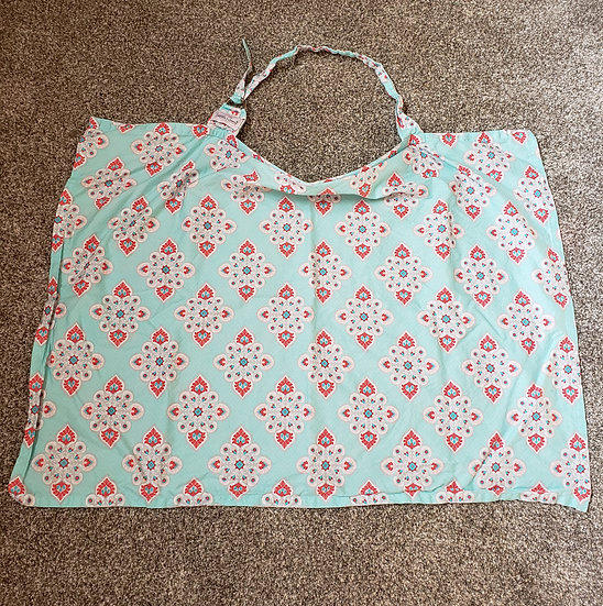 Nursing Cover Blue and Pink
