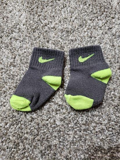 Dark Gray and Green Nike Socks