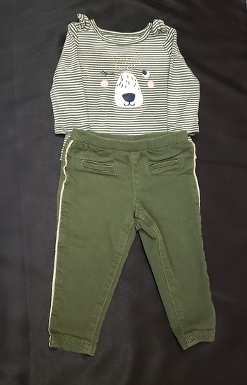 6 month Carter's Green Outfit