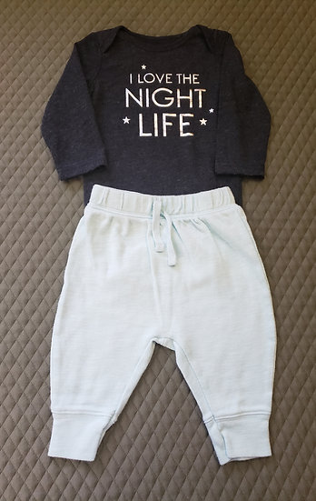 6 month I Love The Night Life Outfit