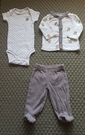 NB 3 Peice Monkey Outfit
