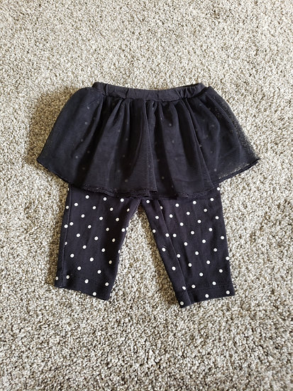 9 month Carter's Black Leggings with Tutu