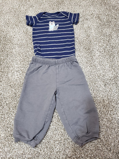9 month Carter's Wolf Outfit