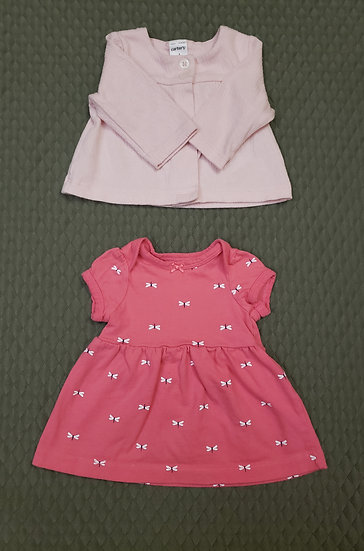 """""""Carter's"""" NB Dress with matching Cardigan"""