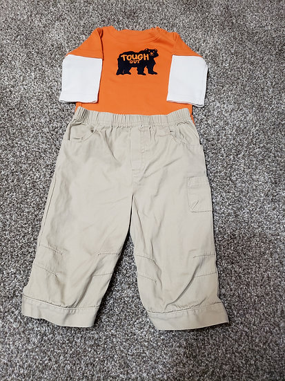 9 month Tough Guy Outfit
