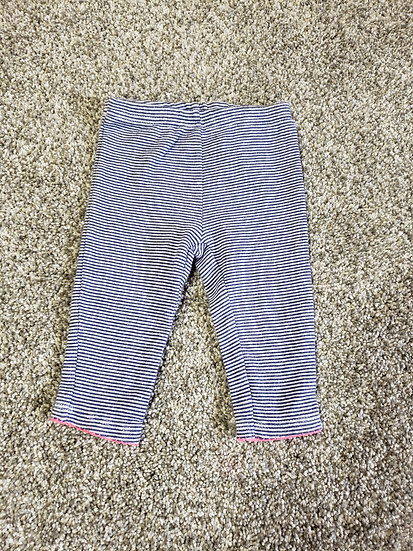 "3-6 ""child of mine"" Navy & White striped Pants"