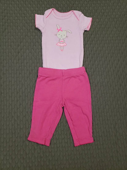NB Carter's Pink Bunny Outfit