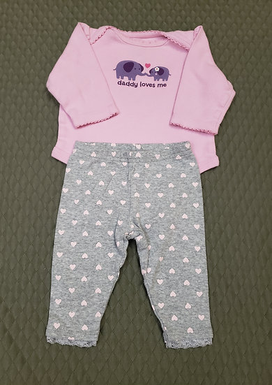"0-3 month ""Daddy Loves Me"" Outfit"