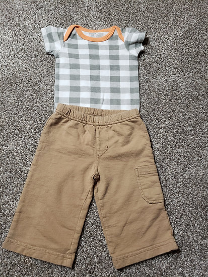 3-6 month Plaid Outfit