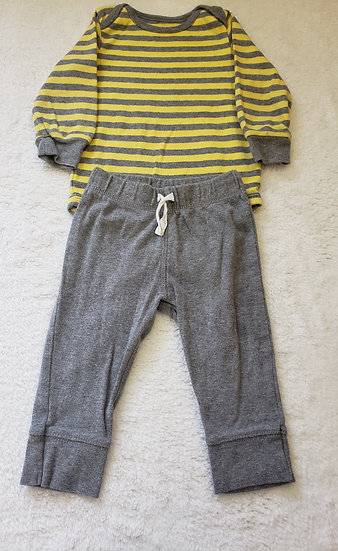 9 month Yellow Striped Outfit