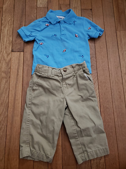 6-9 month Air Plane Outfit