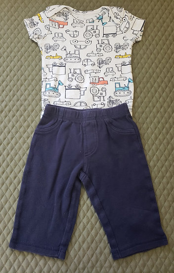 6 month Carter's Navy Vehicle Outfit