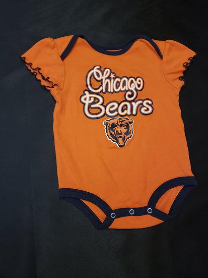 18 month Orange Chicago Bears Onesie