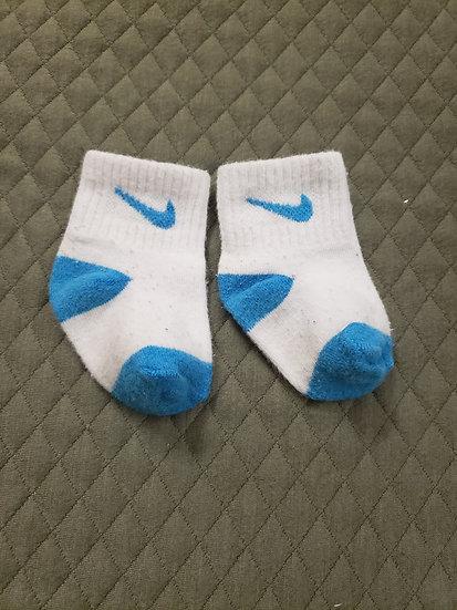 Nike Blue and White Socks