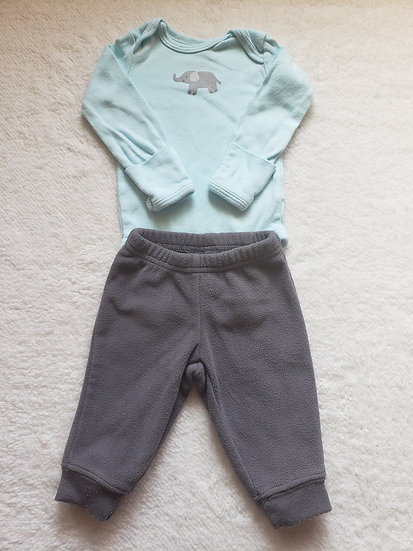 NB Long Sleeve Elephant Outfit