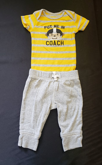 3 month Yellow Football Outfit