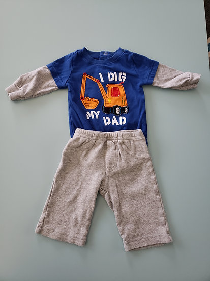3 month I Dig My Dad Outfit