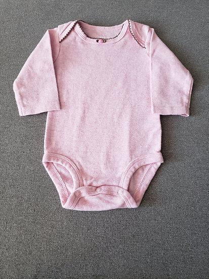 3 month Carter's Light Pink Long Sleeve Onesie