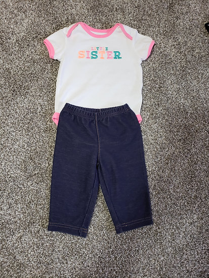 6 month Little Sister Outfit