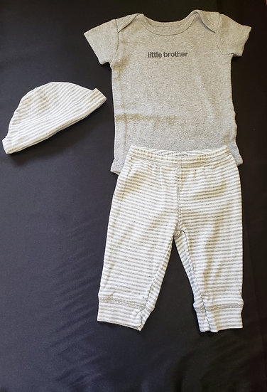 3 month Little Brother 3 Piece Outfit