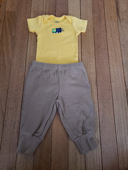 03 month Yellow Truck Outfit